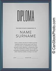 Diploma, certificate design template