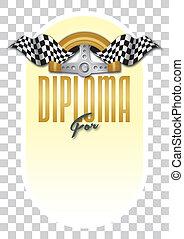 Diploma, Certificate for the winner