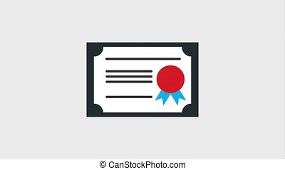 diploma certificate school success animation