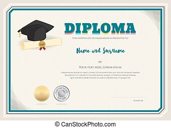 graduation cap with book in it vector design template