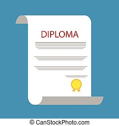 Diploma certificate vector illustration
