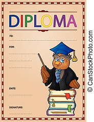 Diploma composition image 1 - eps10 vector illustration.
