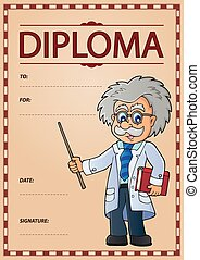 Diploma concept image 6 - eps10 vector illustration.