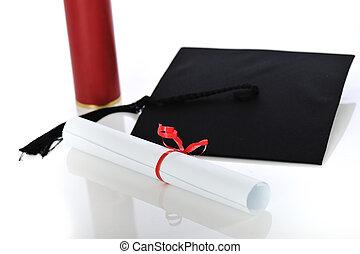 diploma, e, laureandosi, berretto
