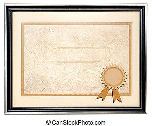 diploma, em branco