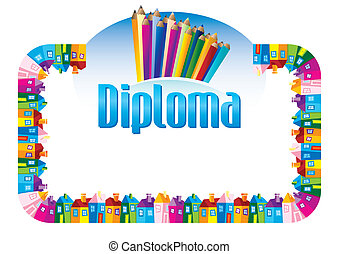 Diploma for children for achievements