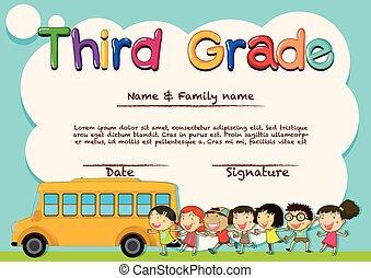 Diploma for third grade students
