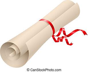 Diploma icon - Diploma. Illustration on white background for...