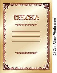 diploma - vector template for the award diploma