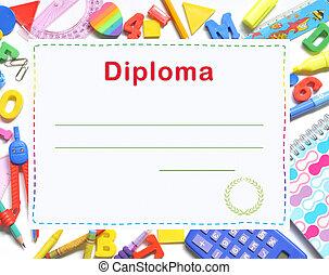 diploma, niño