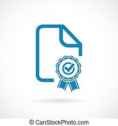 diploma, premio, icona