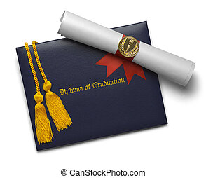 Diploma Scroll and Honor Cords
