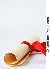 Diploma Scroll with Red Ribbon