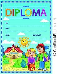 Diploma subject image 4 - eps10 vector illustration.