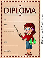 Diploma subject image 5 - eps10 vector illustration.