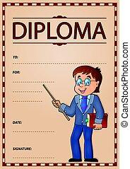 Diploma subject image 6 - eps10 vector illustration.