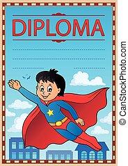 Diploma subject image 8 - eps10 vector illustration.