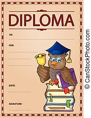 Diploma subject image 9 - eps10 vector illustration.