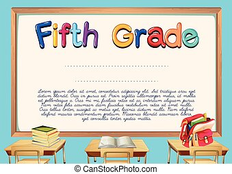 Diploma template for fifth grade students