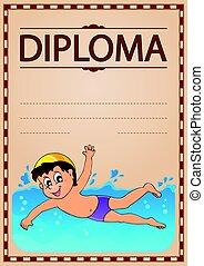 Diploma theme image 5 - Diploma theme image  illustration.