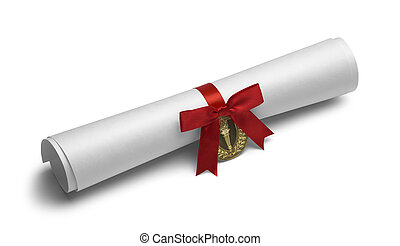 Diploma Torch Red Bow