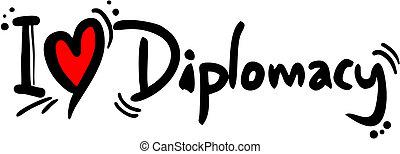 Creative design fo diplomacy love