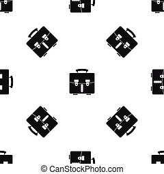 Diplomat bag pattern seamless black