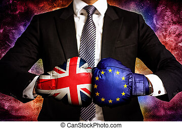 diplomatic and business trade Concept between European Union...
