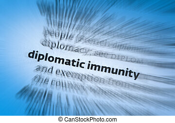 Diplomatic immunity is a form of legal immunity and a policy...
