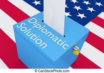 Diplomatic Solution concept - 3D illustration of 'Diplomatic...