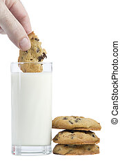 Dipping a cookie