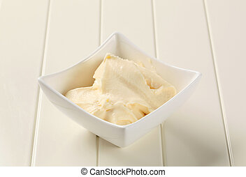 Bowl of creamy dipping sauce or spread