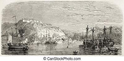 diques, comercial, cherbourg