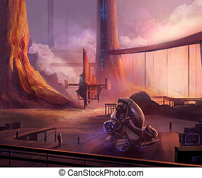 diques, futurista