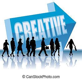 direção, -, criativo