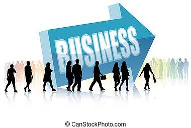 direção, negócio, comunidade