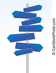 direção, sinais