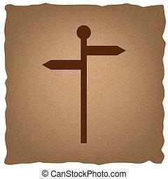 direção, sinal estrada