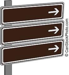 direção, vetorial, sinais