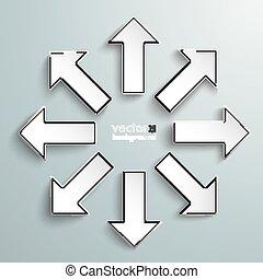 direções, tudo, setas