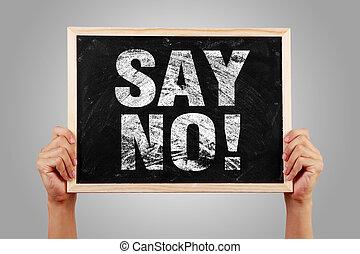 dire non