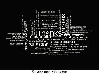 dire, parola, ringraziare, nuvola, lei