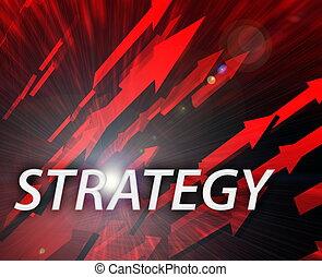 dirección, éxito, estrategia