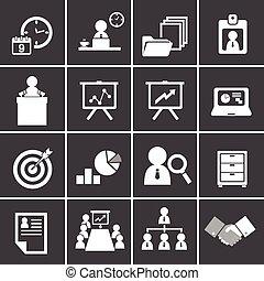 dirección, conjunto, 228-2organization, empresa / negocio, icono