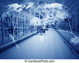 dirección, copia, concepto, suministro, cadena, espacio