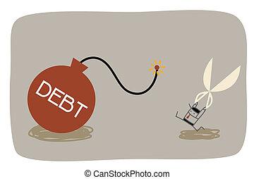 dirección, deuda
