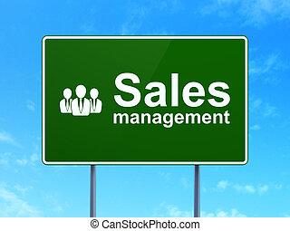 dirección, empresarios, ventas, señal, concept:, publicidad, plano de fondo, camino