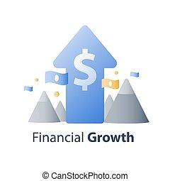 dirección, financiero, concepto de la corporación mercantil,...