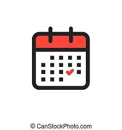 dirección, horario, tiempo, icono, acontecimiento, upcoming