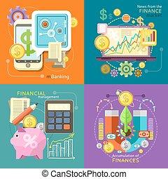dirección, mercado, finanzas, mbanking